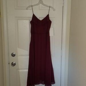 Merlot bridesmaid dress